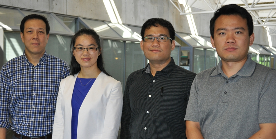 Photo of four researchers