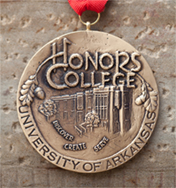 Image of bronze honors college medallion