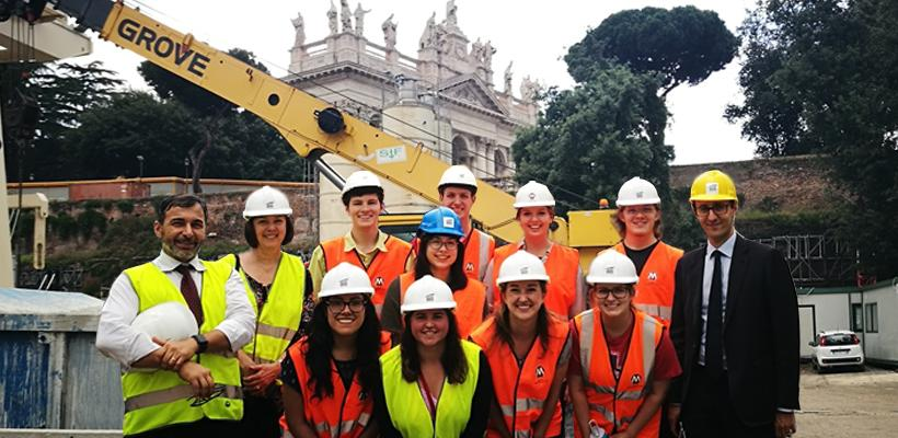 U of A Students See Engineering in Action as part of Rome Center Course
