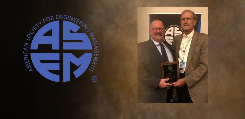 Pohl Inducted as Fellow of Engineering Management Society