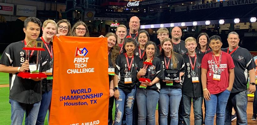 Robotics Team Receives Top Award at World Competition